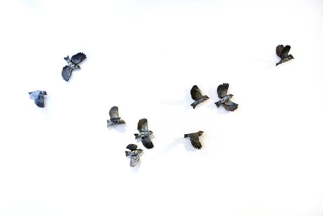 Bryce Pettit, 'Kinglets (Latitude Series)', 2018, Sculpture, Bronze, set of 9, Blue Rain Gallery