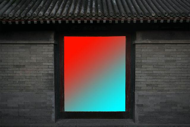 , 'Doorway (Red/Cyan),' 2016, Flowers