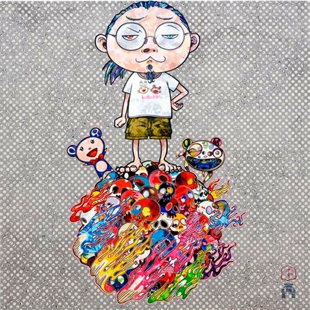 Takashi Murakami, 'Me and the mr. DOBs', 2013, Print, Offset lithographs in colors on wove paper, Artwolfsen