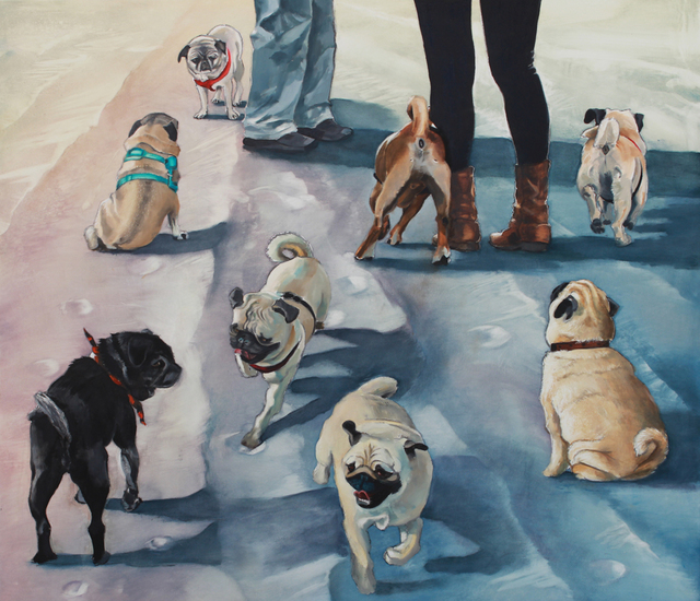 , 'Pug Sunday,' 2017, Sue Greenwood Fine Art