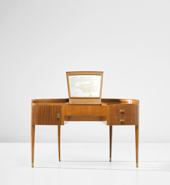 Paolo Buffa, 'Dressing table', circa 1950, Design/Decorative Art, Mahogany-veneered wood, mahogany, mirrored glass, brass., Phillips