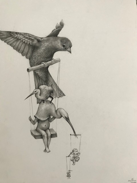 Adonna Khare, 'Birds on Swings', 2017, Visions West Contemporary