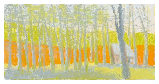 Wolf Kahn, 'Bright Orange, Pale Yellow, and Gray', 2014, Adelson Cavalier Galleries