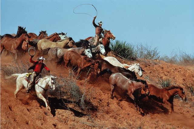 , 'Rope and Rush, Seymour, TX,' 1986, M+B