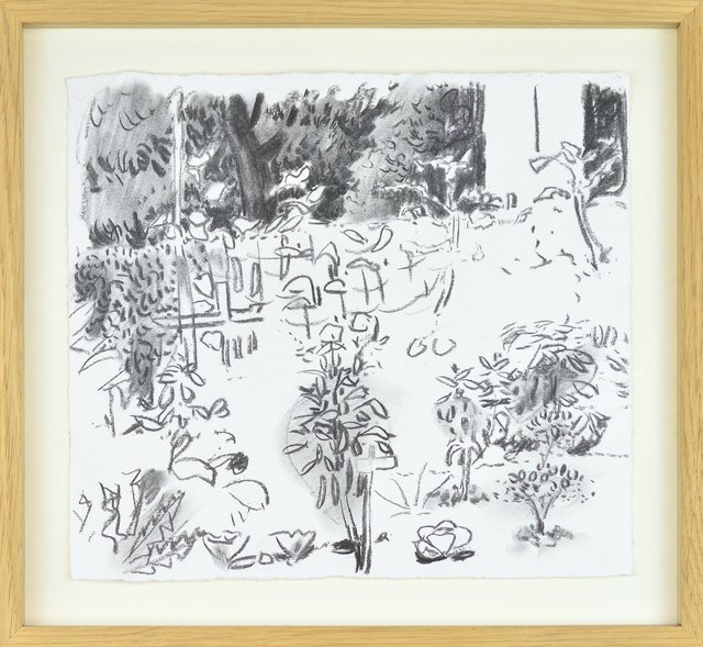 Matthias Weischer, 'ohne Titel 2007', 2000-2010, Drawing, Collage or other Work on Paper, Charchoal drawing on rag paper, ARTEDIO
