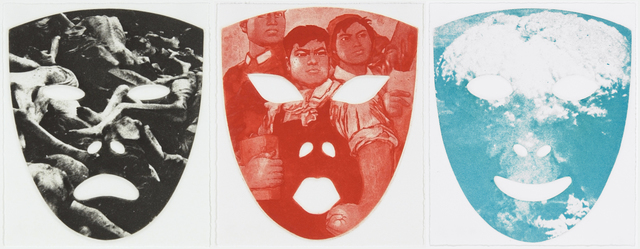, 'Red mask, End mask, People mask,' 1983, Graphicstudio USF