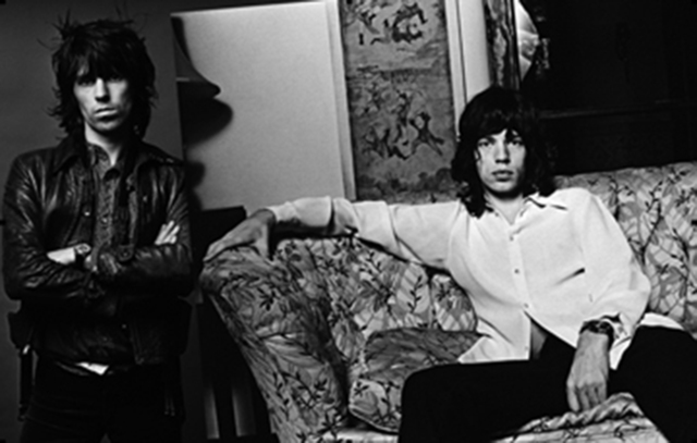 Norman Seeff, 'Sessions Spread; Keith Richards & Mick Jagger, Los Angeles', 1972, Photography, Archival Pigment Print, Staley-Wise Gallery