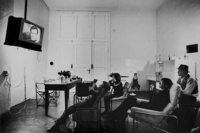 Michael Ruetz, 'The Joseph Beuys family watches Star Trek, Düsseldorf Oberkassel, 11 November 1972', 1972, Michael Hoppen Gallery