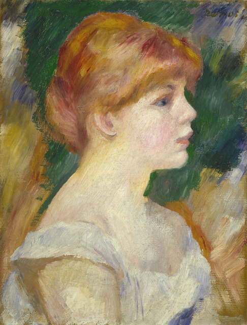 Pierre-Auguste Renoir, 'Suzanne Valadon', ca. 1885, Painting, Oil on canvas, National Gallery of Art, Washington, D.C.
