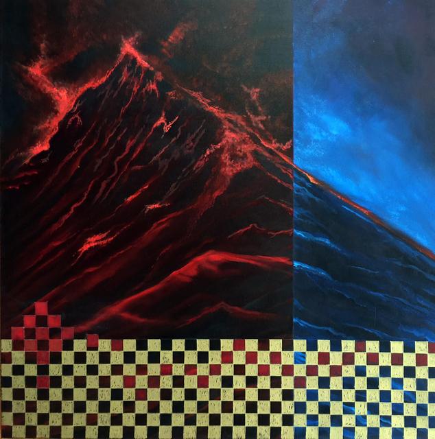 , 'Red & Blue Wave,' 2017, OTA Contemporary
