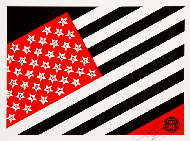Shepard Fairey, 'Flag (Small)', 2010, Heritage Auctions