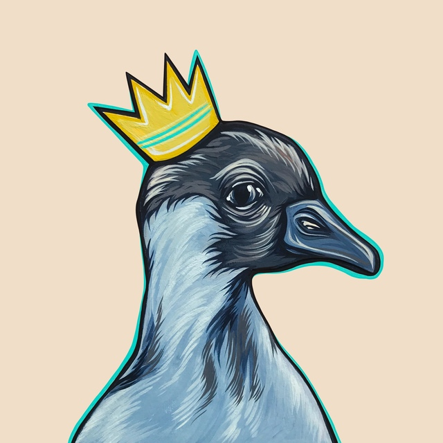Kaitlin Ziesmer, 'Mighty Ducks: Teal Crown', 2019, Painting, Acryla gouache on paper and panel, Abend Gallery