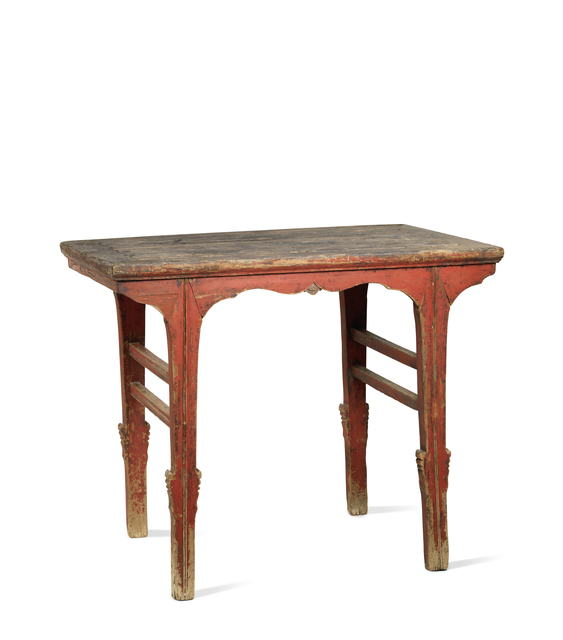 , 'A red lacquered softwood rectangular wine table,' China: Shanxi province-16th century, Rasti Chinese Art