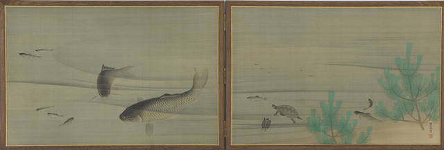 , 'Fish and Turtles in Water. Japan, Edo period (1615–1868),' ca. 1780, The Metropolitan Museum of Art
