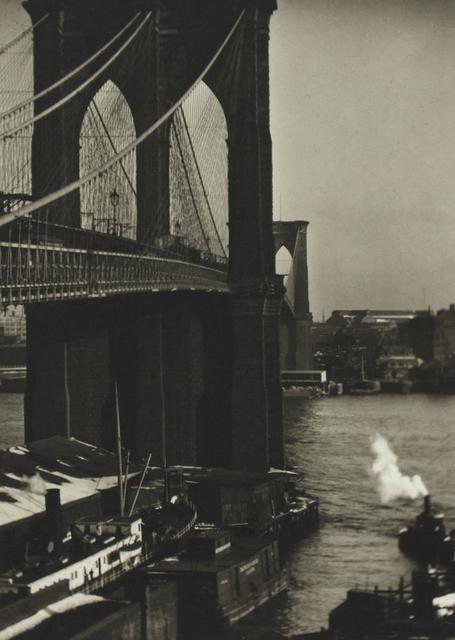 Alvin Langdon Coburn, 'Brooklyn Bridge from a Roof Top, New York', ca. 1905, °CLAIR Galerie