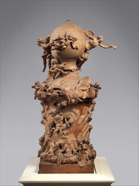 Clodion, 'Model for a Proposed Monument to Commemorate the Invention of the Balloon', ca. 1784, Sculpture, Terracotta, The Metropolitan Museum of Art
