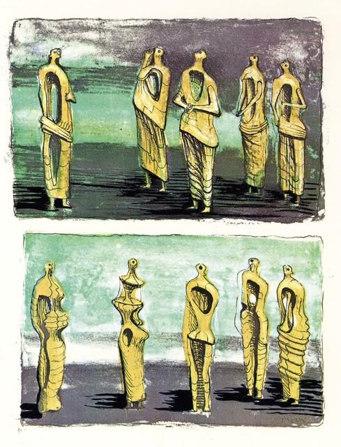 , 'Standing Figures,' 1950, Osborne Samuel