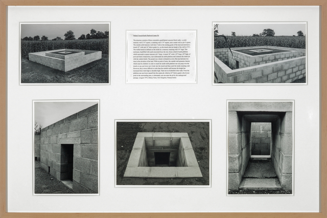 , 'Walled Trench/Earth Platform/Center Pit: Oblique Section,' 1974-75, Galerie Thomas Schulte