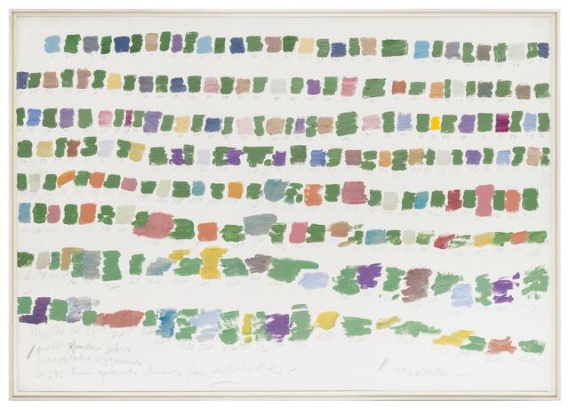 , '1-242 Random colors interpolated by green,' ca. 1980, Herlitzka + Faria