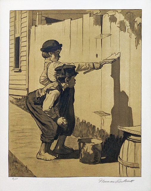 Norman Rockwell, 'WHITE WASHING (SEPIA)', 1976, Gallery Art