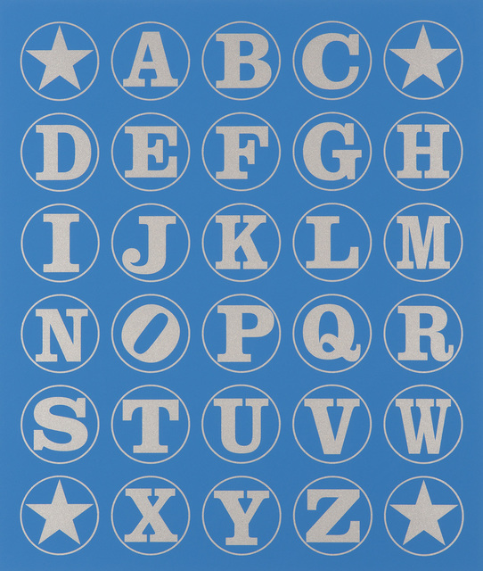 , 'Alphabet Wall (Silver on Blue),' 2011, Contini Contemporary