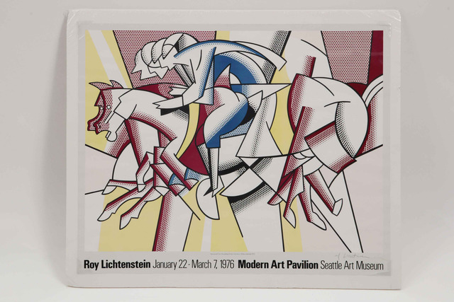 Roy Lichtenstein, 'Red Horseman', 1977, Print, Exhibit Poster, Leviton Fine Art