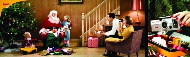 , 'Colorama 213, Family with Santa & tree, Brownie Super 27 camera,' Displayed 11/19/62–12/17/62, George Eastman Museum