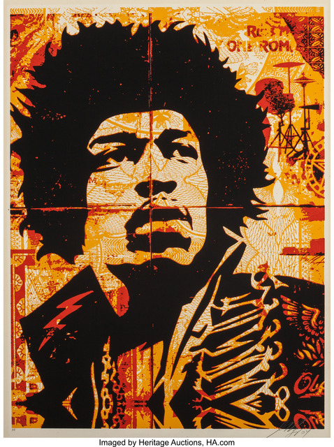 Shepard Fairey (OBEY), 'Hendrix', 2004, Heritage Auctions