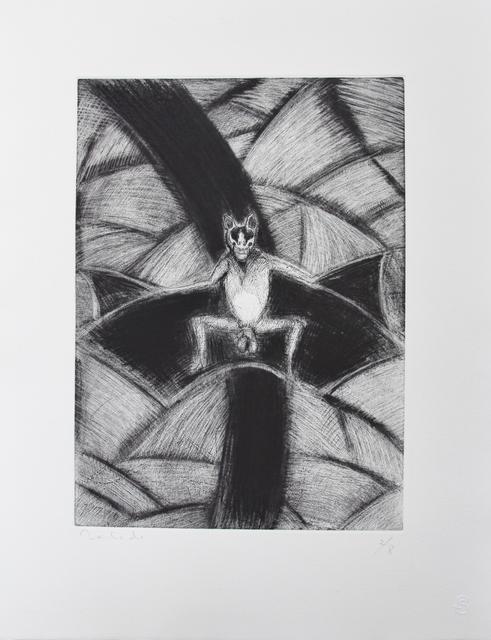 Francisco Toledo, 'Murcielago con ala ', 2016, Galería Quetzalli