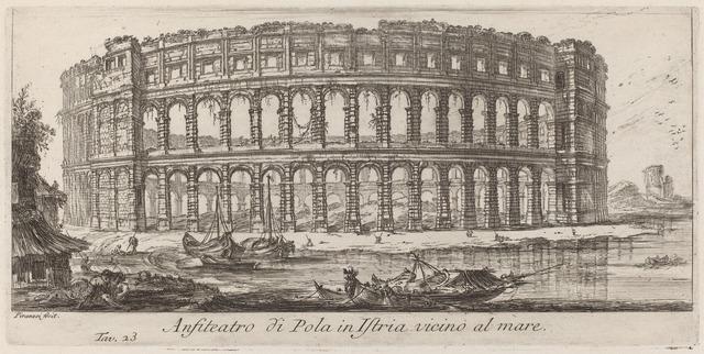Giovanni Battista Piranesi, 'Anfiteatro di Pola in Istria', 1748, National Gallery of Art, Washington, D.C.