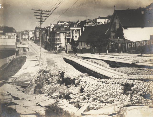 Willard Worden, 'Earthquake Damage to Union Street', 1906, San Francisco Museum of Modern Art (SFMOMA)