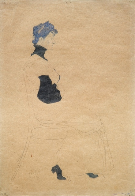 , 'Woman in Profile, Seated in a Chair,' 1909, Galerie Thomas