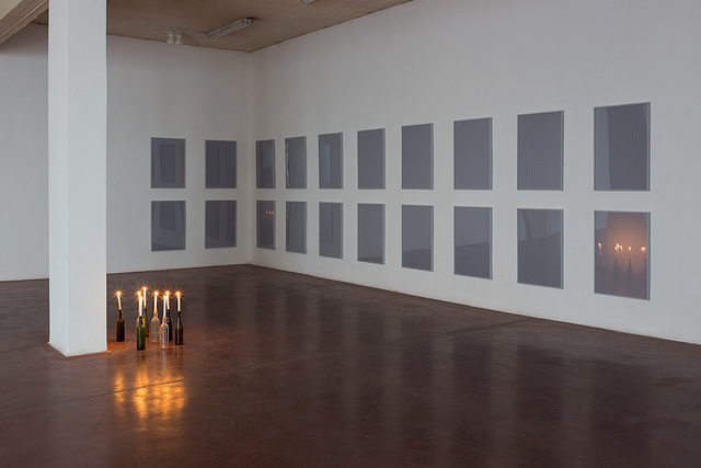 , 'All the possible ways of lighting eight candles,' 2012, Dvir Gallery