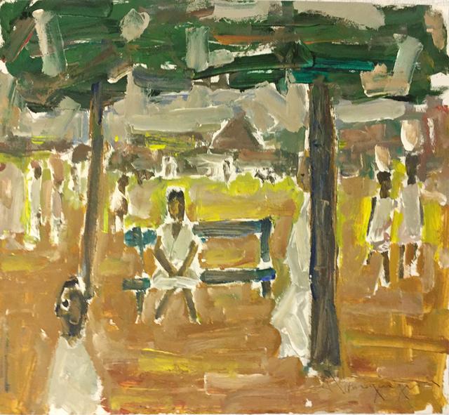 Paul-Henri Bourguignon, 'Village Life', Eisele Fine Art
