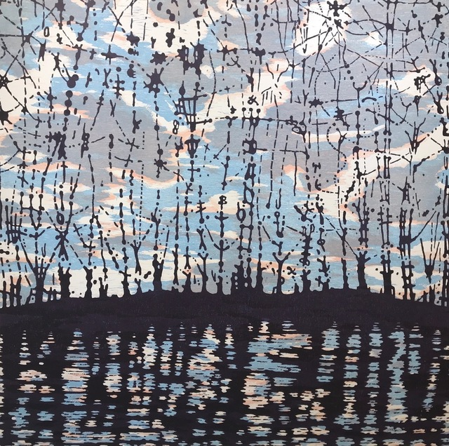 Eve Stockton, 'Stream - var. 23', 2020, Drawing, Collage or other Work on Paper, Woodcut, Long View Gallery