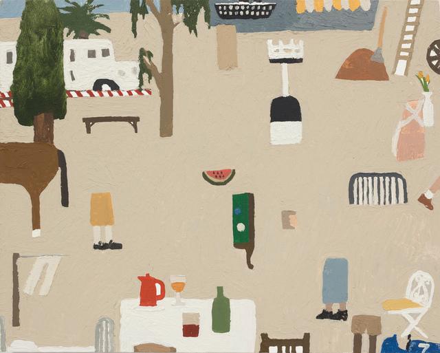 , 'Clothesline, Watermelon, Billiards, Ship,' 2018, Steve Turner