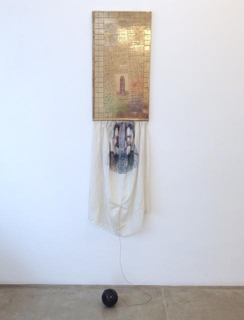 Robert Rauschenberg, 'Fifth Force', 1986, Sculpture, Bronze, seda, transfer print, corda e bola de bronze [Bronze , silk , transfer print, string and bronze ball], Galeria Superfície