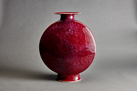 , 'Canteen vase, copper red and purple glaze,' , Pucker Gallery