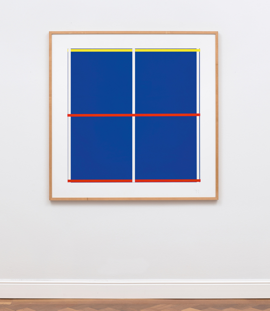 , 'Blau mit Kreuz,' 1992, Ludorff