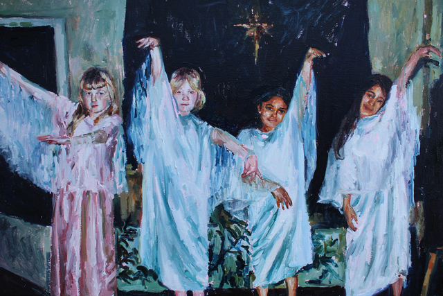 , 'Painting possessed by the zeitgeist of the ABBA divorce proceedings.,' 2019, 99 Loop Gallery