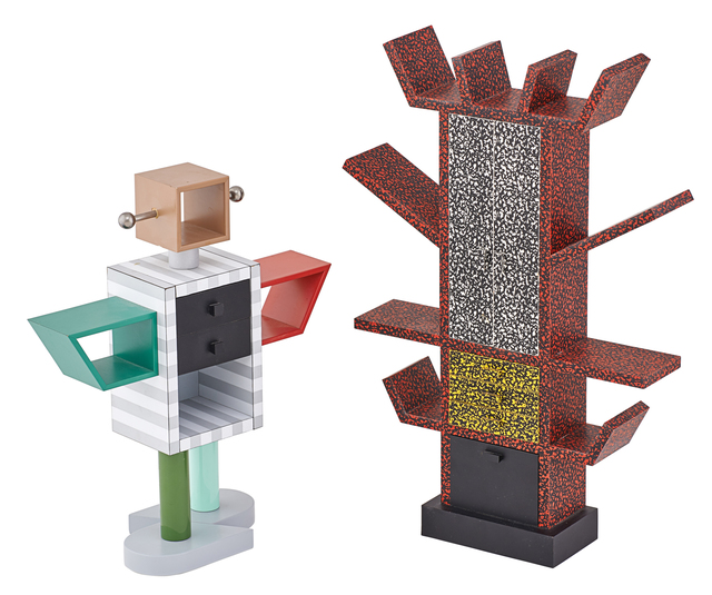 Ettore Sottsass, 'Ettore Sottsass And Masanori Umeda For Memphis Miniatures', Sculpture, Two: Casablanca laminated 1:6 scale cabinet (no. 148/500) designed by Ettore Sottsass and Ginza laminated 1:6 scale cabinet (no. 62/500) designed by Masanori Umeda, Italy, Rago/Wright