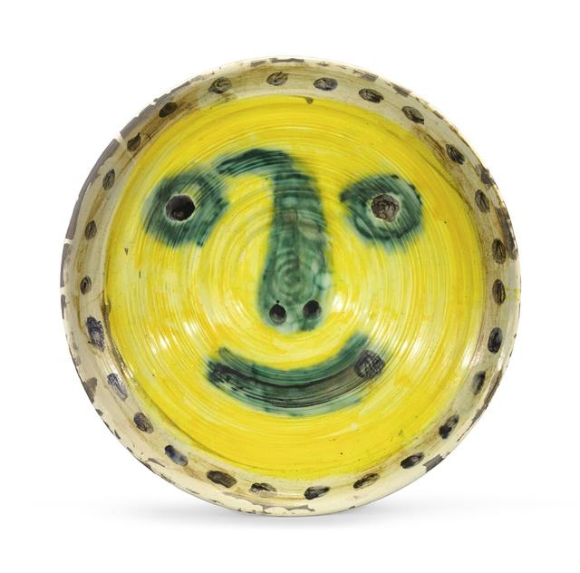 Pablo Picasso, 'Visage sur fond jaune. Au verso, quatre études de visage', 1958, BAILLY GALLERY