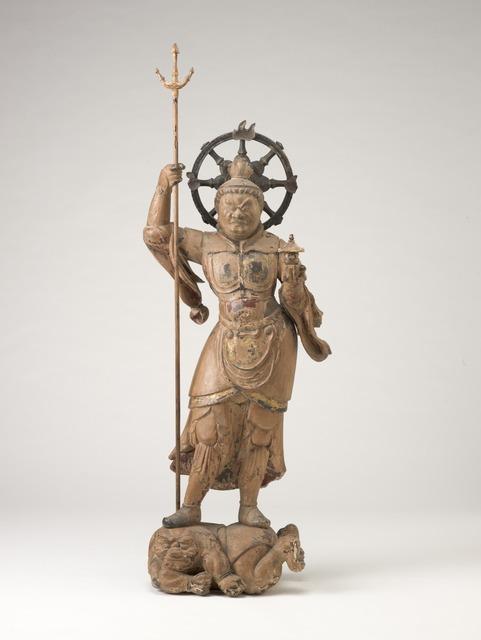 'Standing Bishamonten', Late 12th century, Indianapolis Museum of Art at Newfields