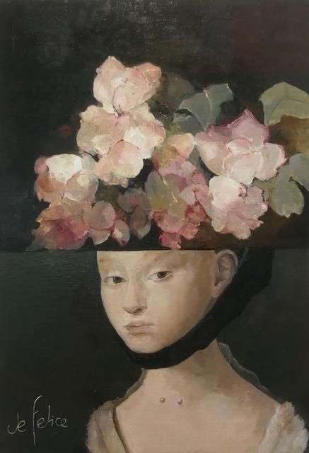 Françoise de Felice, 'Collage jeune fille Petrus Christus', 2019, Galerie Calderone
