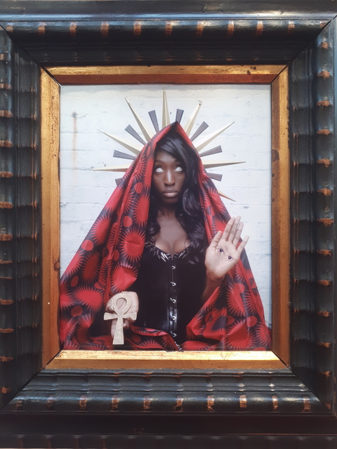 , 'Black Madonna, Santa Lux,' 2018, Secret Art Society