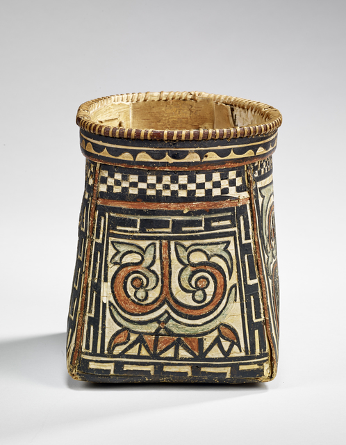, 'Basket with polychrome decoration,' Second half of 19th century , Musée du quai Branly
