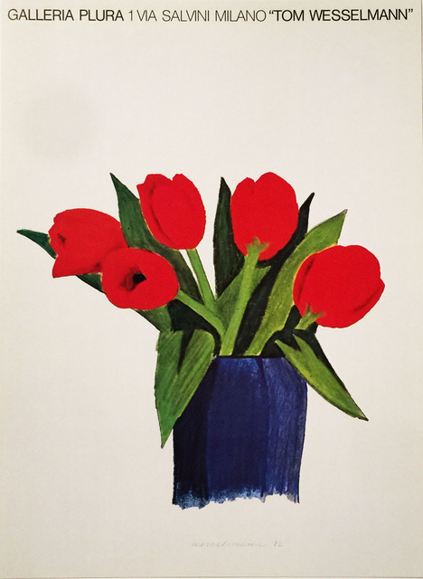 Tom Wesselmann, 'Galleria Plura, 1 Via Salvini, Milano, Tom Wesselmann  Original Poster', 1982, Reproduction, Original Lithographic Gallery Opening Poster, Only  printed once at the time of the exhibition, David Lawrence Gallery