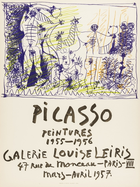 Pablo Picasso, 'Peintrues 1955-1956, Galerie Louis Leiris (Mourlot 299)', 1955, Print, Lithograph printed in colours, Forum Auctions