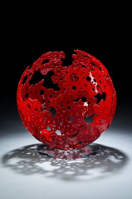 , 'Red Shadow Sphere,' 2016, Christopher Martin Gallery