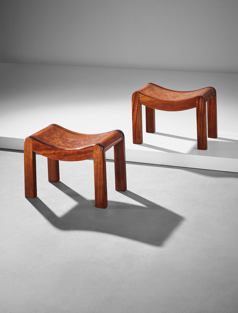 Pierre Chareau, 'Pair of stools, model no. SN1', ca. 1920, Phillips